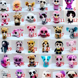 toy teddy eyes Coupons - Beanie Boos Plush Stuffed Toys 15cm Big Eyes Animals Soft Dolls for Kids Gifts Toys Big Eyes Stuffed plush wholesale
