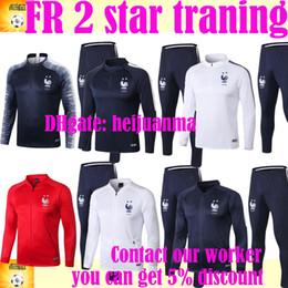 2018 19 Deux étoiles FR veste de survêtement Maillot d'entraînement Survêtement de survêtement en jersey MBAPPE survêtement veste de survêtement ensemble de survêtement ? partir de fabricateur