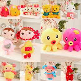 Piccolo panda panda online-12cm peluche giocattoli regali di nozze piccola azienda presenta coniglio panda pikachu super mario pooh elefanti doraemon cuscino carino bambola farcito giocattoli