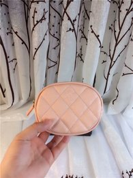 Wholesale Oval Purse - Fresh lady caviar cow leather Coin Purses fashion hold hand mini zero purse green pink black