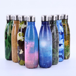 Wholesale Thermos Warmer - Cola Shaped Bottle 500ML Camouflage Flower Starry Insulated Vacuum Stainless Steel Water Bottle Creative Thermos Coke Cup 23 Styles OOA4203