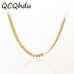 Wholesale bone choker necklace - whole sale1PC Leaves Chain Sequins Choker Necklace Fashion Fish Bone for Woman Collar Necklaces Party Jewelry