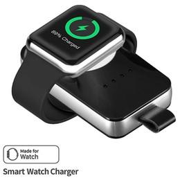 Cabo de alimentação sem fio on-line-2019 carregador sem fio powerbank para iwatch smart watch portátil banco de potência carregador de cabo magnético para iwatch cabo de carregamento com caixa de varejo
