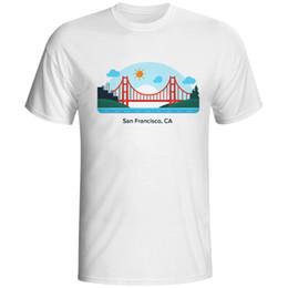 2019 ropa de california Hombres Camisetas T-shirt Hombre California San FranT-shirts Para Hombre Tees T-shirt Tops Tees Moda Ropa Top Homme Impreso ropa de california baratos