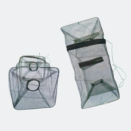 Wholesale collapsible fishing - Fishing Collapsible Trap Cast Keep Net Cage Crab fish Shrimp Lobster Crawfish Fishing Net