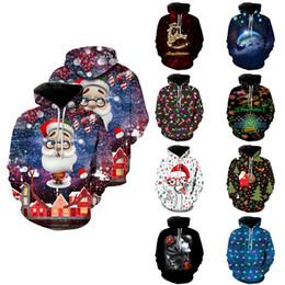 353b3ce16f97e vêtements de noel pour hommes Promotion Sweat À Capuche De Noël 3D Imprimé  18 Modèles Étudiant
