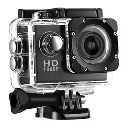Wholesale Hd Vedio Camera - HD 4K action Camera vedio digital Camcorder 30M sport DV 2.0 inch Screen 720P waterproof Helemt Cam