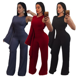 5a8c5f5110a Plus Size Single Shoulder Jumpsuit S-3XL 2018 New Classic Women Clothing  Fashion Rompers Solid Color Long Sleeve O-neck Club Party Tights Bo  discount long ...