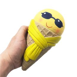 Мини-розовый силикон онлайн-Мини Мягкий Силиконовый Squishy Emoji Мороженое Squishy Душистые Squishy Медленный Рост Squeeze Игрушка Джамбо Коллекция Подарков