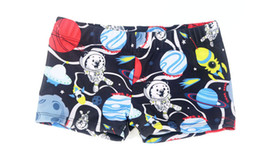 Wholesale Swimming Dogs - New Boys Swimwear Cartoon Printing Cute Fit 4-10Y Swimming Trunks Kid Children Astronaut Machine dog Dinosaur Pattern sw0711