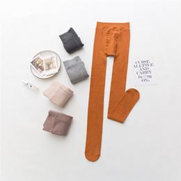 d56510feb Calças Justas De Inverno Quente Magro Listrado Collants Mulheres Alta  Subida Grossas Meia-calça de Pé Completo Feminino Meias de Lã