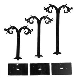 B54628 Acrylique Bijoux Affiche Boucle D'oreille Stand Titulaire Parapluie Noir 10.7 cm x 8.2 cm 13.2 cm x 8.2 cm 15.7 cm x 8.2 cm, 2 Ensembles 2015 nouveau ? partir de fabricateur