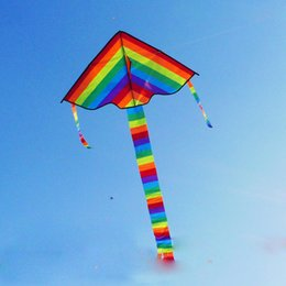 Wholesale Animal Stunts - Rainbow Kite Long Tail Nylon Outdoor Baby Toys For Children Kids Kites Stunt Kite Surf Without Control Bar And Line Baby Toy