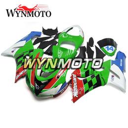 636 plastiques en Ligne-Nouveaux couvercles pour Kawasaki ZX-6R 2005 2006 Nouvelle carrosserie moto couvre 636 05 06 vert rouge blanc ABS kit de carénage injection