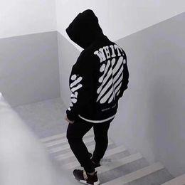 Wholesale sweater hoodie hip hop - Men women's Fashion Long Sleeve Sweatshirts Of Hoodie Letter Printed Fleece Sweater Hip Hop Skateboard Casual White Hedging Coat HFLSW