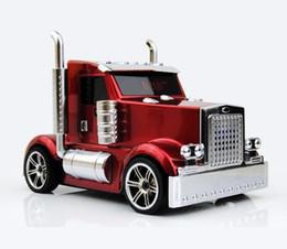 диктор mp3-плеер автомобиль в форме Скидка Модель автомобиля грузовик форма универсальный динамик Bluetooth мини-динамик со светодиодной подсветкой беспроводной портативный сабвуфер поддержка FM TF USB MP3 - плеер