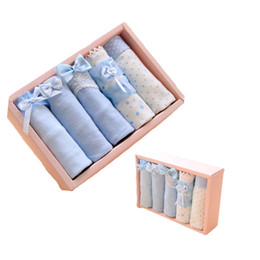 Wholesale Valentine Packages - 2018 Valentines Day Gift Box Packaging Satin Cotton Cute Best Cool Girls In Panties Lace Panty Blue Short Fashion Direct Selling Briefs
