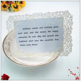 Wholesale Wholesale Diy Wedding Invitation Cards - 10pcs 18x12cm Laser Cut Rose Table Place Card DIY Wedding Party Menu Card Romantic Wedding Invitation Party Table Cards 6ZH13