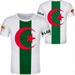 Bandiere per i paesi online-ALGERIA maglietta gratis nome personalizzato numero palestre algerie porti DZA paese t-shirt bandiera nazione araba maschio testo di stampa DZ foto vestiti
