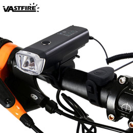 Waterproof Bike Light Intelligent Sensitive Front Bicycle Headlight with Horn Function 4 Modes USB Rechargeable Cycling Torch от