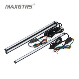 Wholesale led headlight strip - Car Flexible Switchback LED Knight Rider Strip Light For Headlight Sequential Flasher DRL Flowing Amber Turn Signal Lights