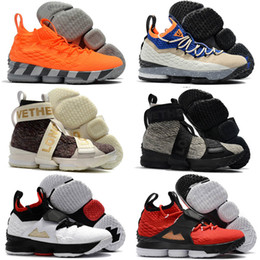 Wholesale Print Borders - Kith 15 XV Three Kings Lifestyle Performance Concrete Long Live the King Mens Basketball Shoes 15s Griffey Trainers Sneakers 7-12