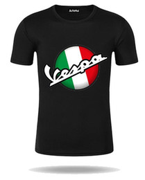 Wholesale motorcycle classic - Classic Vintage Brand Vespa 3D T Shirt Men Italy Scooter Vespa Tee Shirt Short Sleeve 80's 90's Teenage Motorcycle Youth T-shirt
