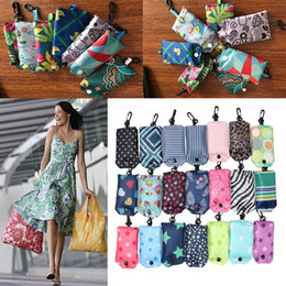 Wholesale Wholesale Folding Tote Bags - Newest Nylon Foldable Shopping Bags Reusable Storage Bag Eco Friendly Shopping Bags Tote Bags Free Shipping WX9-199