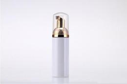 Dispenser di sapone liquido bianco della bottiglia della bottiglia del Foamer di plastica 50ml migliore bottiglia di schiuma più economica con il foamer dorato da
