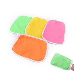 tanning mitts Coupons - 1PC 20*14cm Exfoliating Mitt Scrub Glove Preparation Shower Scrub Gloves for Sunless Self Tanning Random Color