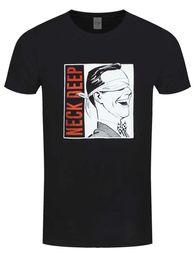 Collo di profondità della maglietta degli uomini online-T-shirt nera collo Deep Blindfold da uomo