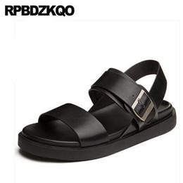2f2f35d317c618 Platform Leather Designer Men Water Japanese Shoes Strap Waterproof Mens  Sandals 2018 Summer Outdoor Open Toe Fashion Beach