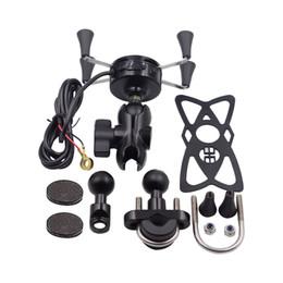Großhandel aufladbare einstellbare handyhalter motorradhalterung fahrrad rückspiegel halterung für iphone x xs 8 7 6 6 s plus von Fabrikanten