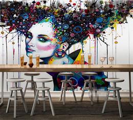 grande pittura moderna astratta di fiore Sconti carta da parati astratta 3d Rilievo murales TV foto sfondo romantico farfalla orchidea fiori 3D grande parete carta da parati moderna pittura