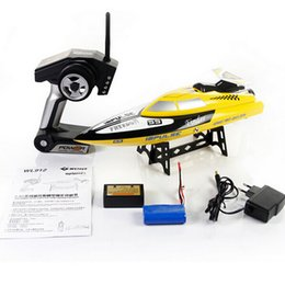 Wholesale water cooler cheap - 2014 New cheap Remote Control Toys WL912 2.4G 4CH water cooling RC Boat Toy 24kM H VS FT007 FT009 Wl911 Wl912 UDI001