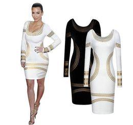 Wholesale Black White Striped Mini Dress - New arrival Women Sexy Black White Print dress Slim dress lady Backless skirt pencil dress JJD2157