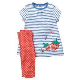 c61b063d3f3f Girls Summer Clothes Sets 2018 Brand Toddler Girl Flamingo Outfits Animal  Applique Dress+Leggings Children Clothing Kids Set Y1892112