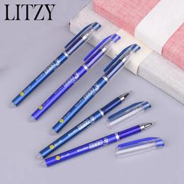 Stylo à bille effaçable stylo effaçable encre bleue magique 0.5mm pour les étudiants d'école outils d'écriture fournitures scolaires papeterie 6pcs / set ? partir de fabricateur