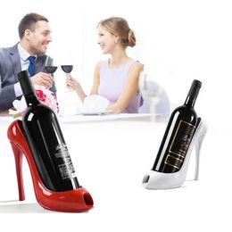Adornos tacones altos online-Zapato de tacón alto vino botella titular vino estante decoración del hogar adornos artesanía estante estante para el hogar decoración de la barra