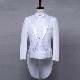 c4a8f858b4e58c Classic Design Men Tailcoat Wedding Suit Groom Tuxedo Custom made Wedding  Tailcoat Groomsmen Suits (Jacket+Pants+Belt+Tie)