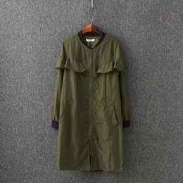 xs mujer abrigo largo coreano Rebajas Lindas mujeres coreanas Trench Coat Spring 2018 Slim Full Sleeve europeo rompevientos X-Long Ladies Overcoat