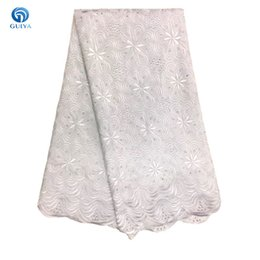 Wholesale Yellow Voile Lace - Free Shipping! 2018 African Lace Fabric Swiss Voile Lace High Quality Swiss Voile Lace In Switzerland For Dresses GYCL0001