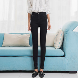 34c49070e5a05 Jeans Female Denim Solid Color Womens Jean Femme Stretch Bottoms Feminino Skinny  Pants For Women Trousers 2018 Plus Size Befree