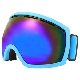 Gafas de ciclo miopía online-Ciclismo Gafas de esquí Motocross Esférica Doble capa Antiniebla Escalada al aire libre Gafas para la nieve Marco de miopía Coma