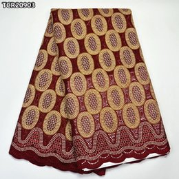 Wholesale Embroidered Cotton Voile Fabric - High quality Swiss voile lace fabric 100% cotton African Swiss lace fabric for women dress embroidered Nigerian lace TCR209