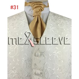 Wholesale Tuxedo Ascot Tie - hot sale suit Formal suit tuxedo shine swirl waistcoat for wedding(pls tell us which number colour of the ascot tie you like)