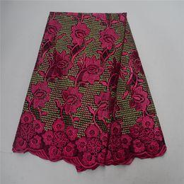 tecido de laço de tule francês branco Desconto Branco tecido de renda Africano 2018 de alta qualidade tecidos de renda Nigeriano Bordado Francês Tule Tecido de Renda Para O Vestido X117