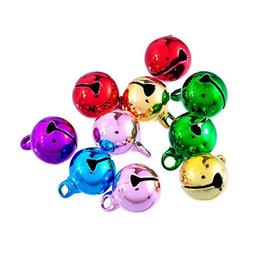 Piccola decorazione dei branelli online-1000 Pz / lotto New Christmas Bells Branelli allentati Piccoli Jingle Bells Mix Colors Christmas Decoration Gift