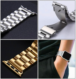 Argentina Pulseras de acero inoxidable para muñeca Iwatch Men Watch Band Correa Pulsera Mujer Accesorios Deporte 38mm o 42mm Con adaptador POR SZQY supplier wrist watch accessories Suministro