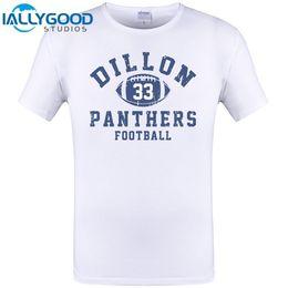 7675d64b3b7 High Quality Men S Dillon American Footballer Panthers 33 Friday Night  Lights Tim Riggins O-Neck Short Sleeve Casual Tee Shirts
